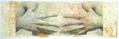 The Body: Untitled 2, Monotype with inkjet transfer, 4.5
